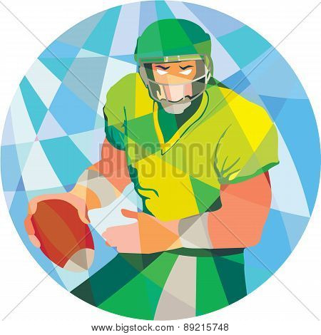 American Football Quarterback Passing Low Polygon