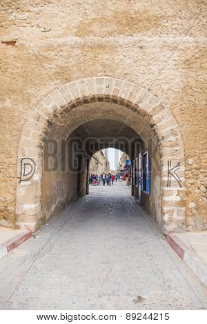 EL JADIDA, MOROCCO, APRIL 5, 2015: Fortress of Mazagan in a historic city on the Atlantic coast of Morocco, in the province of El Jadida.