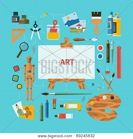 Flat design vector fine art concept