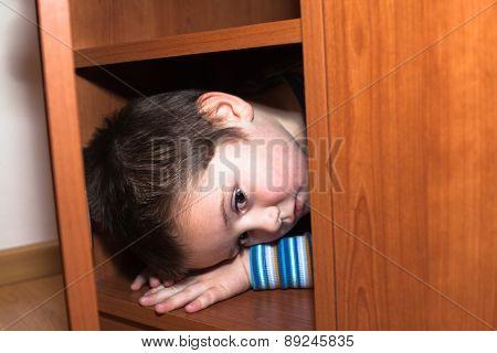 Scared Child Hiding