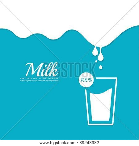 Abstract background with streaks of milk