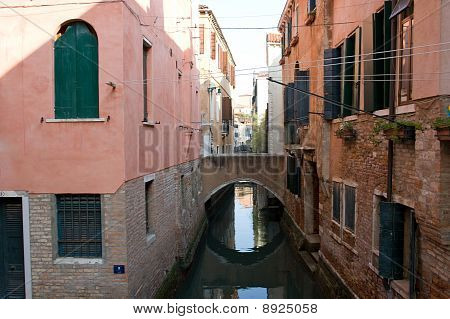 Colorful Canal Venice, Italy