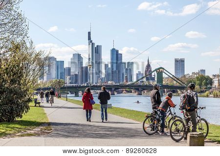 River Main Promenade in Frankfurt