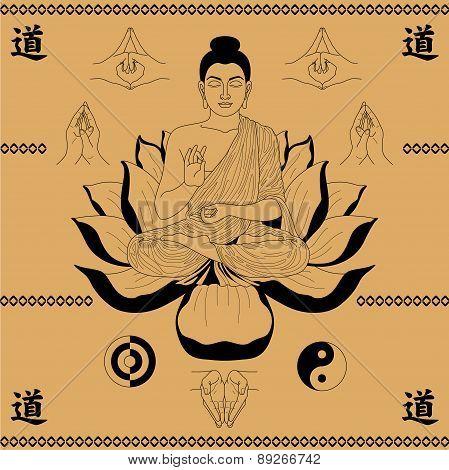 Buddha Sitting In The Lotus