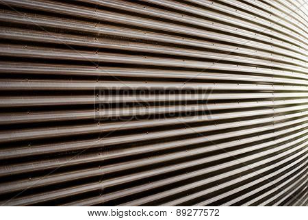 Covering of corrugated iron wall