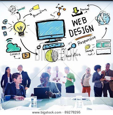 Web Design Web Development Responsive Branding Concept poster