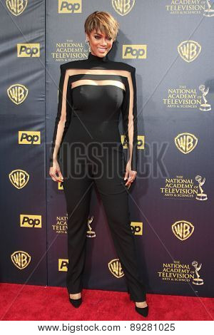 BURBANK - APR 26: Tyra Banks at the 42nd Daytime Emmy Awards Gala at Warner Bros. Studio on April 26, 2015 in Burbank, California