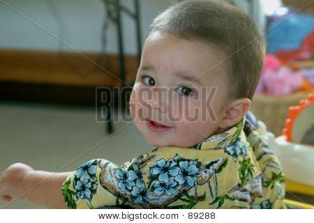 Children-Baby Boy Looking At Camera