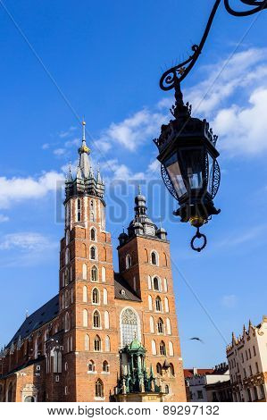 Mariacki Church, Krakow, Poland, Europe