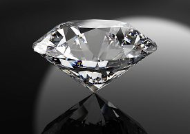 perfect diamond isolated on black
