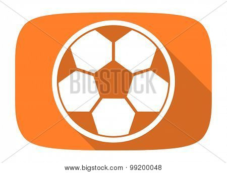 soccer flat design modern icon with long shadow for web and mobile app