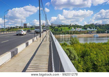 Kanavinsky Bridge, Footpath. Nizhny Novgorod