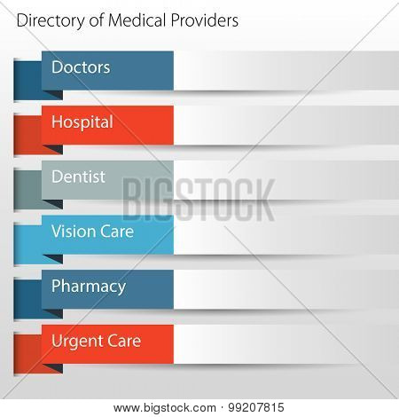 An image of a directory of medical providers icon.