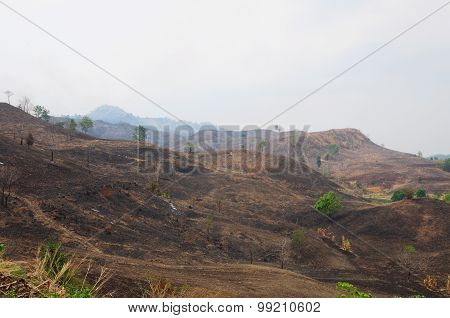 Mountains Valley  Thailand Park Southwest, Burning Forests, Destroying Forests