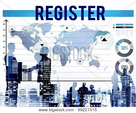 Register Application Enlist Sign Up Join Concept