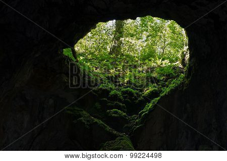 Famous cave entrance at Semenic national park