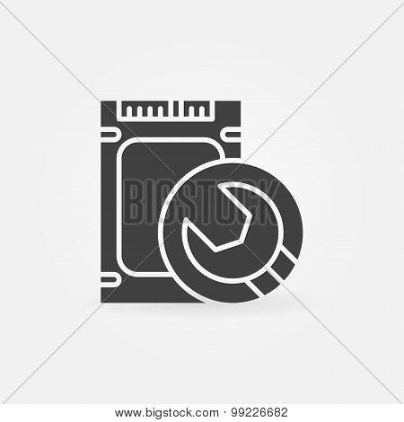 SSD repairing icon