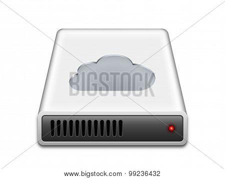 Cloud Storage Icon, Vector Illustration