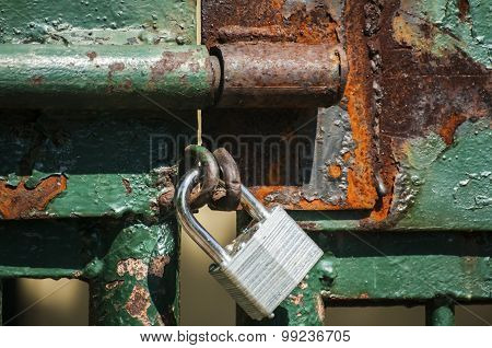 Iron latch and padlock