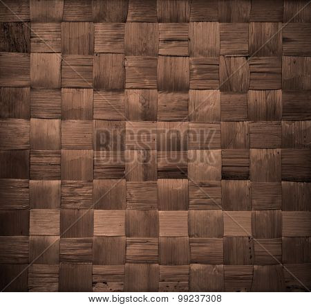 background and texture of brown handicraft weave banana fiber surface poster
