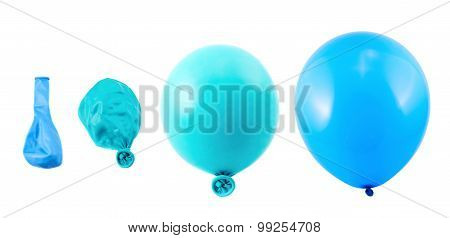 Four stages of balloon inflation isolated