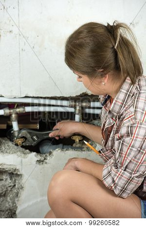 Woman With Spanner