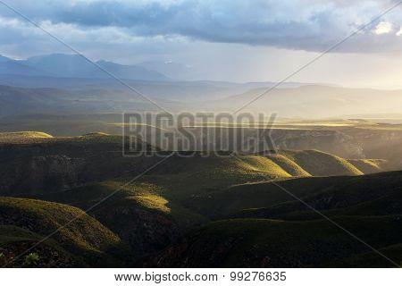 African Mountains Sunset Scenic Baviaans