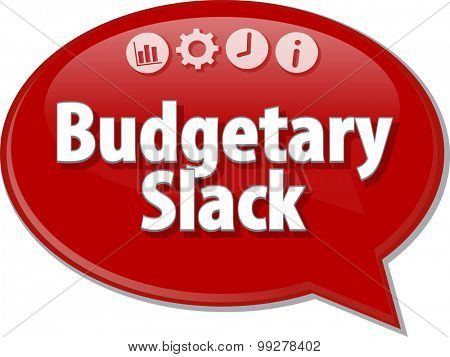 Blank business strategy concept infographic diagram illustration Budgetary Slack