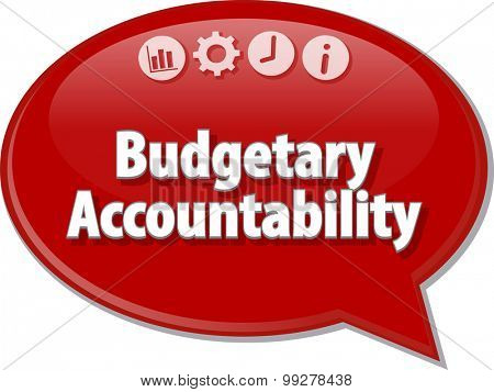 Blank business strategy concept infographic diagram illustration Budgetary Accountability