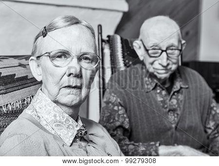 Grumpy Old Woman And Man