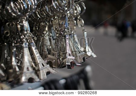 Eiffel Tower Souvenirs In Paris France