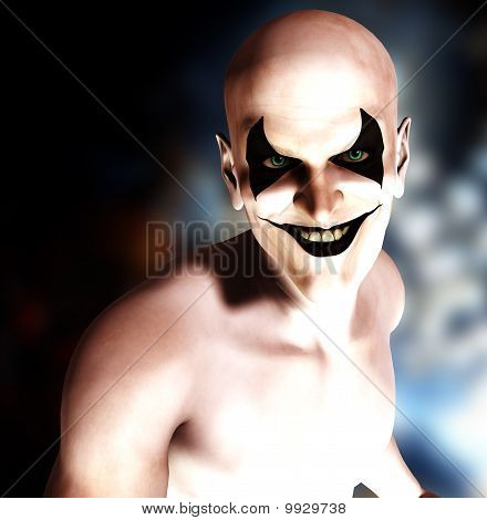 Evil Grinning Clown