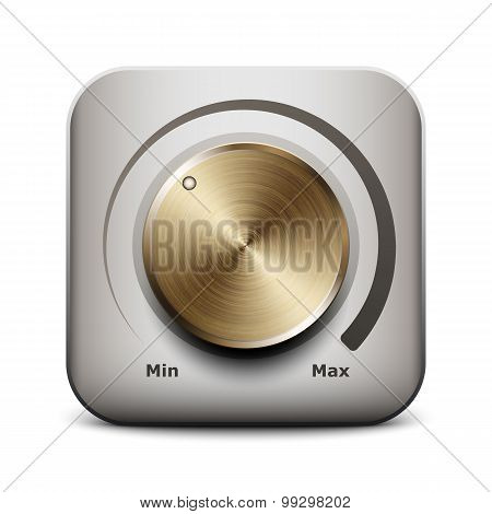 Volume Knob Icon, Vector