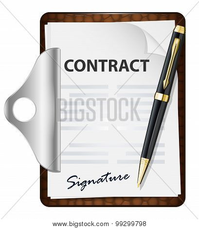 Signing Contract. Vector Icon