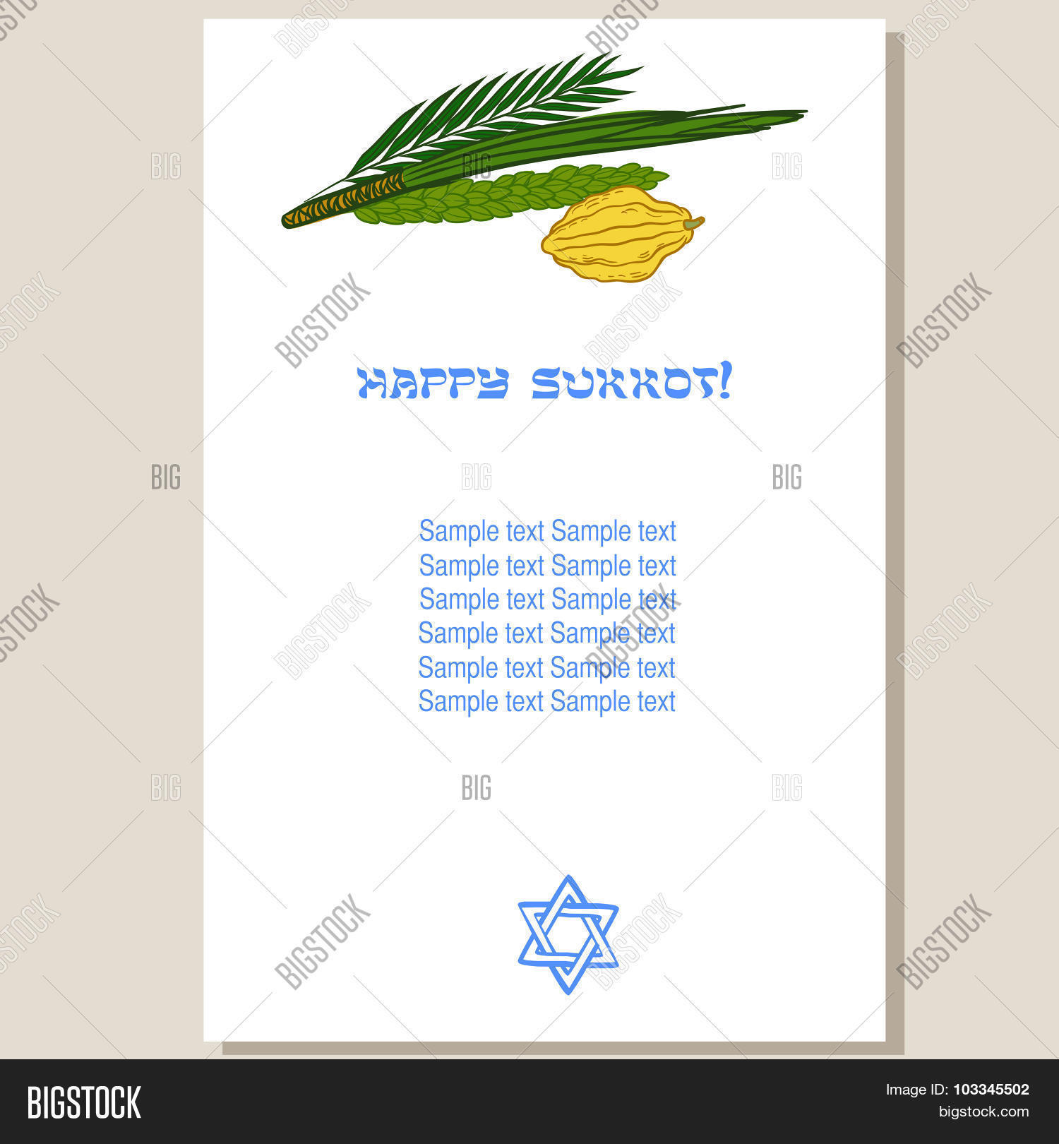 Sukkot Festival Vector Photo Free Trial Bigstock