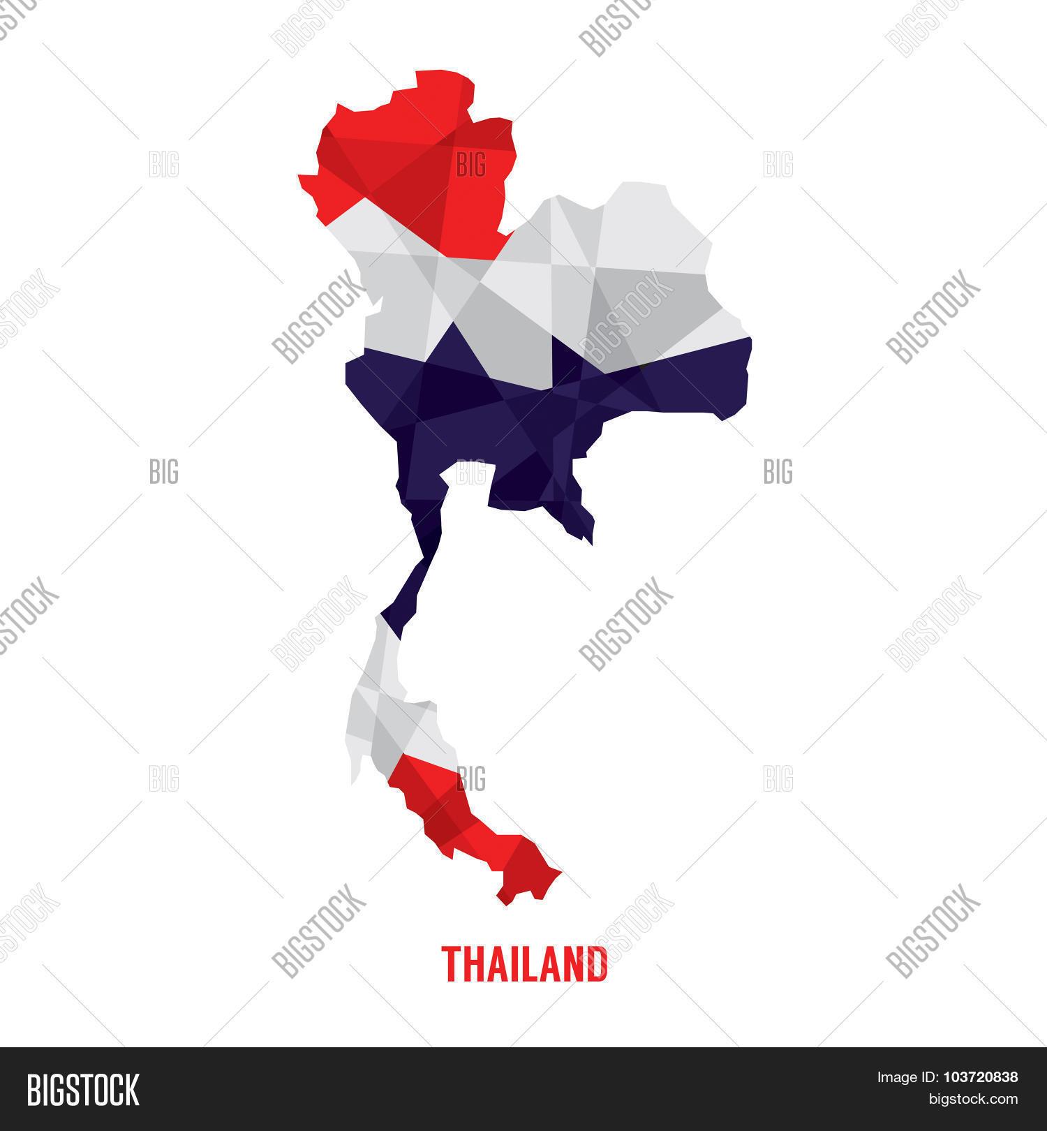 Map Thailand Vector Vector & Photo (Free Trial) | Bigstock