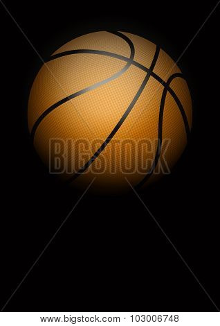 Dark Background of basketball. Vector Illustration.