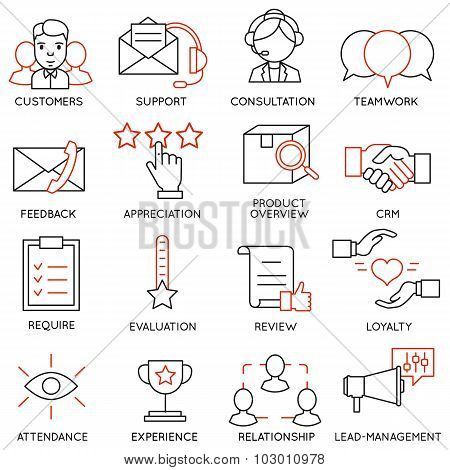 Vector Set Of 16 Icons Related To Business Management - part 13