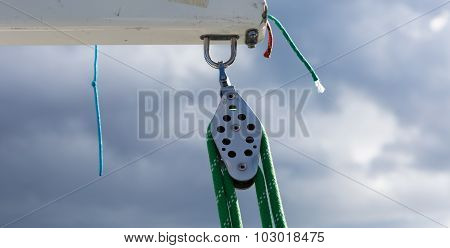 Close Up Of Yacht Equipment