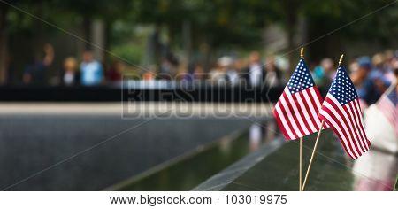 Memorial At World Trade Center Ground Zero