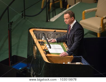 President Of Poland Andrzej Duda On 70Th Session Of Un