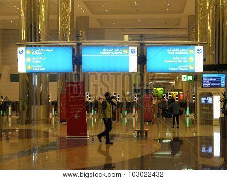 The newer Terminal 3 (Emirates) at Dubai International Airport