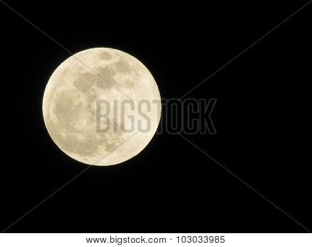 Beautiful Moon At Night Sky