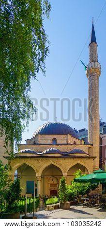 The Ferhadija Mosque (Ferhat-Pasha Mosque or Ferhad-Beg Vukovic Mosque in Sarajevo Bosnia and Herzegovina poster