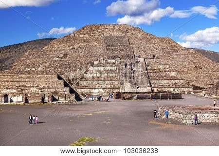 Temple Of Moon Pyramid Teotihuacan Mexico City Mexico