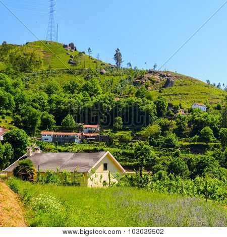scenic view of Peneda-Geres National Park in northern Portugal.