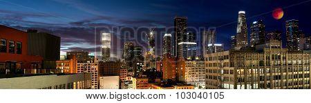 Rare Blood Moon Eclipse over LA