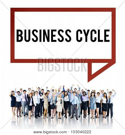 Business Cycle Income Profit Loss Recession Concept poster