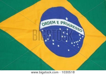 brazilian flag background - symbol of brazil poster