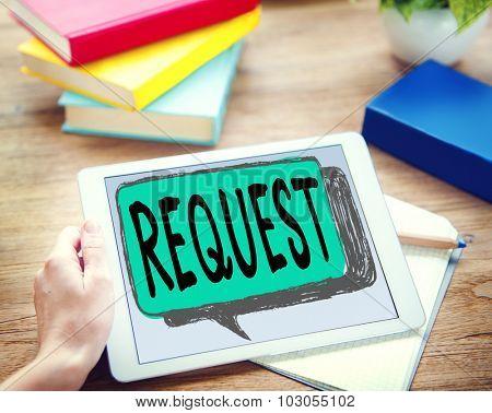 Request Requirement Desire Order Demand Concept poster